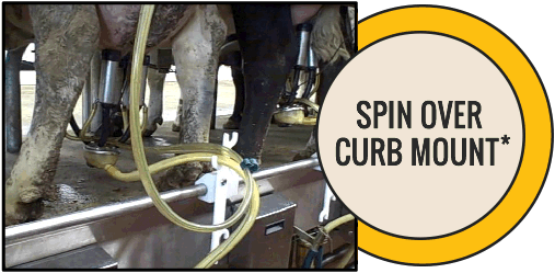 Dairy Milking Equipment, Hose Holder, Hose Guide, Spin Over Curb Mount